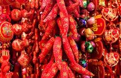 Poivrons rouges chinois Images libres de droits