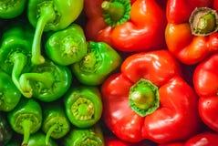 Poivrons rouges et verts Photos libres de droits