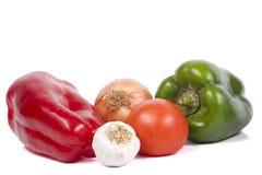 Poivrons, tomates, oignon et ail Image stock