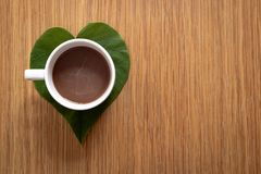Pojęcie Kawowa miłość obraz royalty free