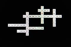 Pojęć rodzinni crosswords Zdjęcie Stock