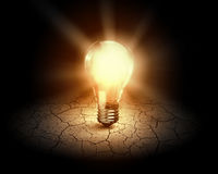 pojęcia żarówki pomysł ilustracji światła wektora Fotografia Stock