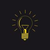 pojęcia żarówki pomysł ilustracji światła wektora Fotografia Royalty Free