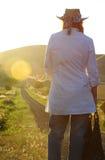 Pojęcia życia podróży trudni wybory przy rozdrożami Obraz Royalty Free
