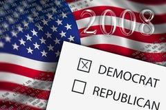 pojęcia 2008 głosowanie ilustracja wektor