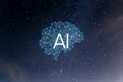 Pojęcia AIArtificial inteligencja fotografia stock