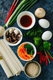 pojęcia azjatykci jedzenie kuchnia azjatykci składniki Warzywa, m Fotografia Royalty Free