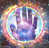 pojęcia bóg ręki duchowość ilustracji
