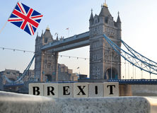 Pojęcia brexit z UK flaga obraz royalty free