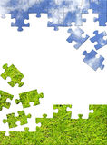 pojęcia charakteru puzzle 3 d ilustracji