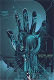 pojęcia cyfrowa odcisku palca ochrona ilustracja wektor