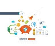 Pojęcia dla biznesowej analizy i planowania, pieniężna strategia Biznesowa ochrona ilustracji