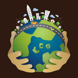 pojęcia eco pokoju gołębie zdjęcie royalty free