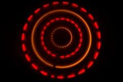 pojęcia gitary elektrycznej ilustraci muzyka Freezelight rozjarzony winyl na ciemnym tle lub Turntable bawić się winyl z rozjarzo Obrazy Royalty Free