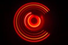 pojęcia gitary elektrycznej ilustraci muzyka Freezelight rozjarzony winyl na ciemnym tle lub Turntable bawić się winyl z rozjarzo Zdjęcie Royalty Free