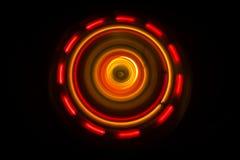 pojęcia gitary elektrycznej ilustraci muzyka Freezelight rozjarzony winyl na ciemnym tle lub Turntable bawić się winyl z rozjarzo Fotografia Royalty Free