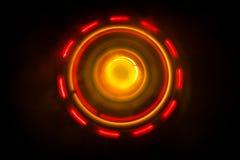 pojęcia gitary elektrycznej ilustraci muzyka Freezelight rozjarzony winyl na ciemnym tle lub Turntable bawić się winyl z rozjarzo Obraz Royalty Free
