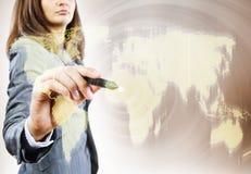 pojęcia globalizacja odosobniony biel Fotografia Stock