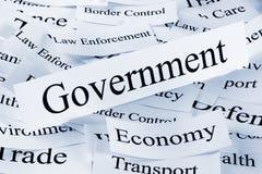 pojęcia gospodarki rząd Zdjęcia Stock