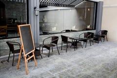 Pojęcia i projekta przód sklep z kawą Zdjęcie Stock