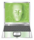 pojęcia ilustracyjna laptopu kobieta Zdjęcie Stock