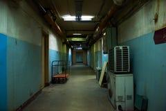 pojęcia korytarza ciemny końcówka światła tunel Obraz Royalty Free