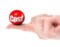 pojęcia kosztu palec Zdjęcie Stock