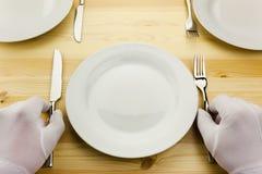 pojęcia kryzysu gość restauracji porcja Obrazy Stock