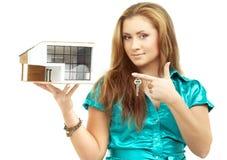 pojęcia nieruchomości domu klucza real Zdjęcia Royalty Free