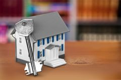 pojęcia nieruchomości domu klucza real Obraz Stock