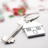 pojęcia nieruchomości domu klucza real Obrazy Royalty Free