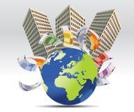 pojęcia nieruchomości pieniężny real ilustracji