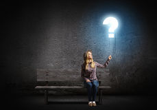 pojęcia o nzp często odizolowany pytanie spory white Zdjęcia Stock