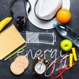 Pojęcia oszczędzania energii różnej metody bateria Zdjęcia Royalty Free