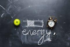Pojęcia oszczędzania energii różnej metody bateria Obraz Stock