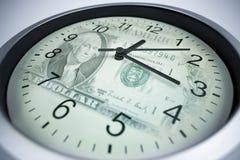 pojęcia pieniądze czas Zdjęcia Stock