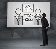 pojęcia różna ręk partnerstwa kawałków łamigłówka dwa Obrazy Stock