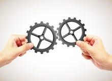 pojęcia różna ręk partnerstwa kawałków łamigłówka dwa Obraz Stock