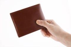 pojęcia ręki portfel obraz royalty free