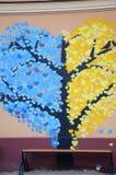 pojęcia serca odosobniony miłości drzewa biel Zdjęcia Stock