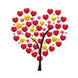 pojęcia serca odosobniony miłości drzewa biel Zdjęcia Royalty Free