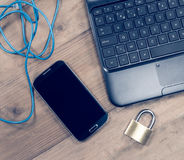 pojęcia sieci kłódki routera ochrona Zdjęcia Stock