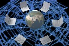 pojęcia sieci szeroki świat royalty ilustracja