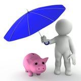 pojęcia ubezpieczenia oszczędzania ilustracja wektor