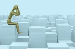 pojęcia wątpliwości samotności problem ilustracja wektor