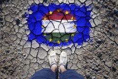Pojęcia Węgry i Eu stosunek polityczny Zdjęcia Royalty Free