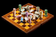 pojęcia waluty wojny zdjęcie stock