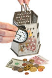 pojęcia wizerunku pieniądze czas Fotografia Stock