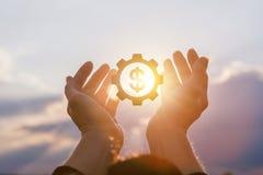 Pojęcia wsparcie finansowe dla nowatorskich pomysłów zdjęcia stock