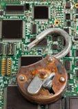 pojęcia zapory informaci odosobniony technologia zabezpieczeń biel Obraz Royalty Free